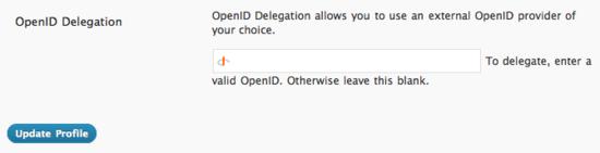 OpenID Delegation
